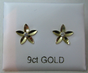 9ct Gold Cubic Zirconia set Flower stud earrings